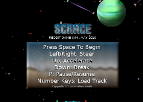 Scrace Title Screen